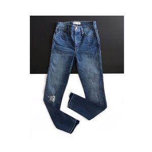 madewell • drop step hem high waist skinny jeans